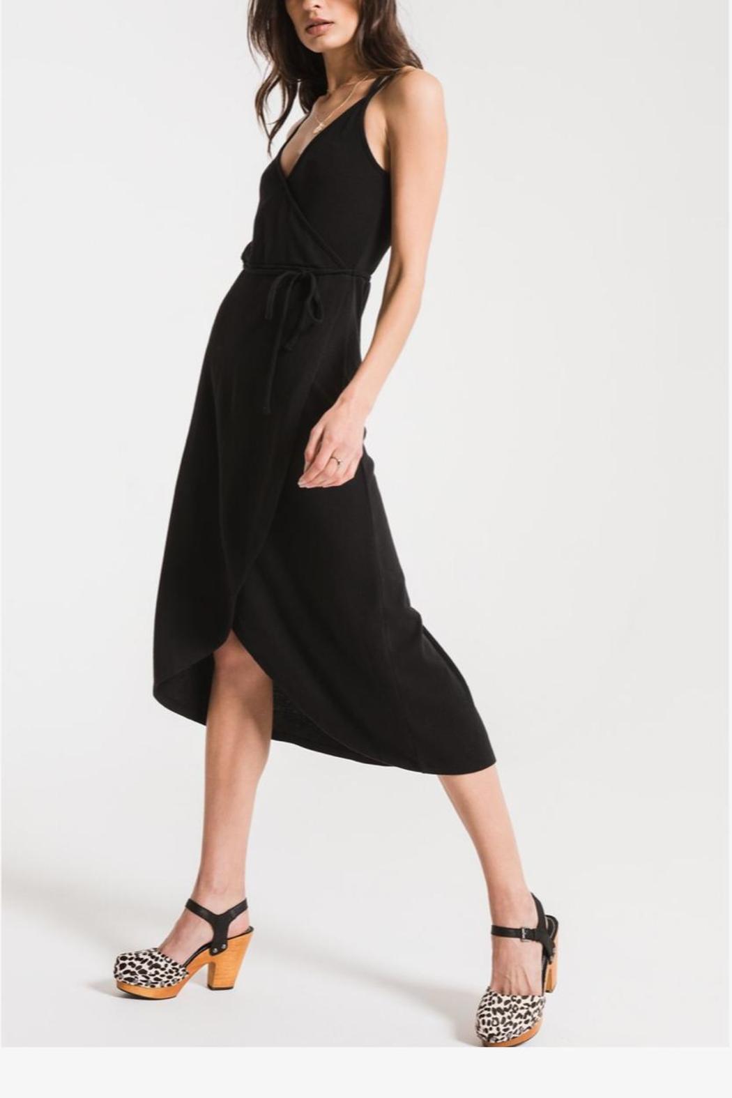 Zsupply Solid Wrap Dress - Side Cropped Image