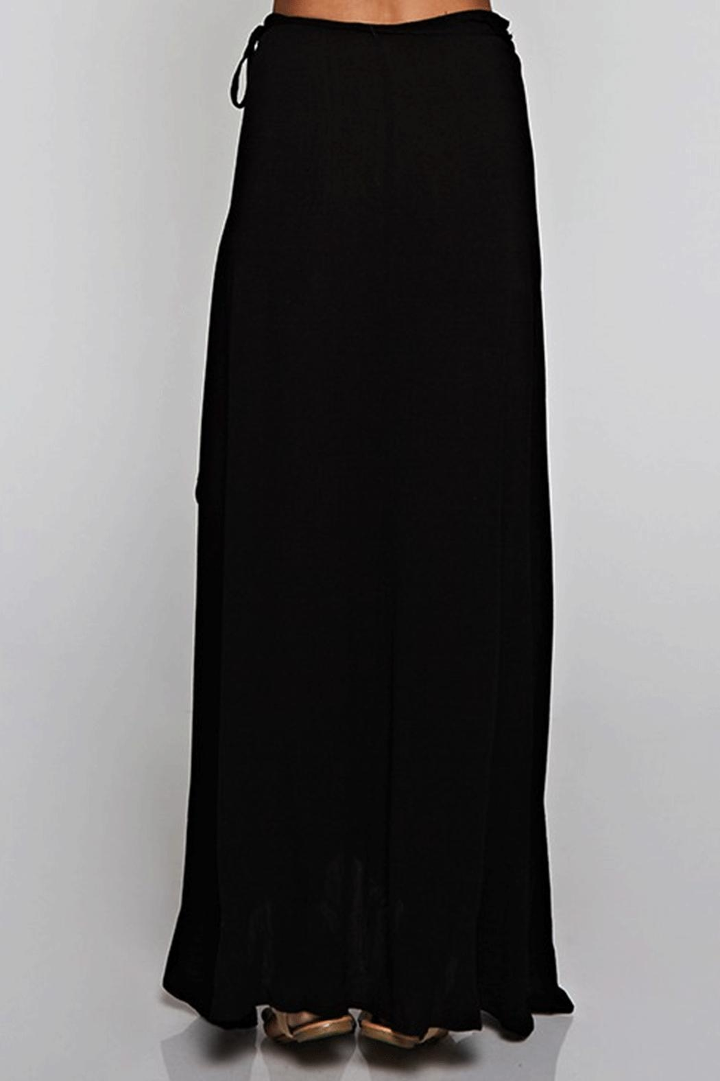 Ambiance Solid Wrap Skirt - Front Full Image