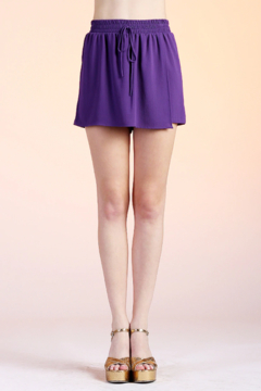 Tyche Solid Wrap Skort - Product List Image