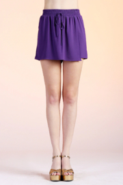 Tyche Solid Wrap Skort - Product Mini Image