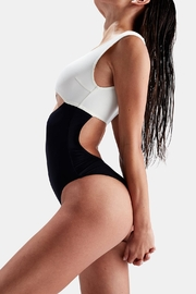 Solid & Striped Two-Toned One Piece - Front full body