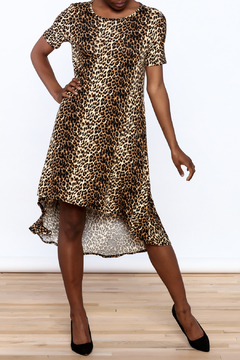 Solo La Fe  Cheetah High Low Dress - Product List Image
