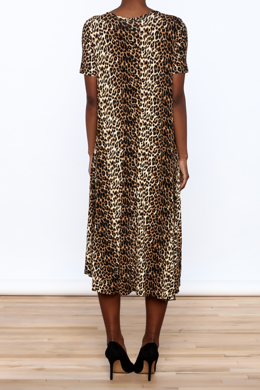 Solo La Fe  Cheetah High Low Dress - Back Cropped Image