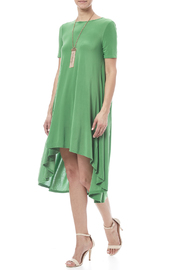 Solo La Fee Emerald High Low Dress - Product Mini Image