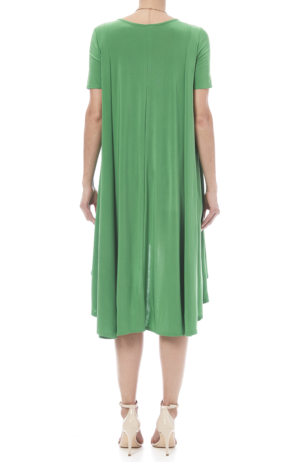 Solo La Fee Emerald High Low Dress - Back Cropped Image