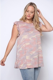 Solo Fashion New York Army Top Pink Plus Size - Product Mini Image