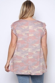 Solo Fashion New York Army Top Pink Plus Size - Front full body