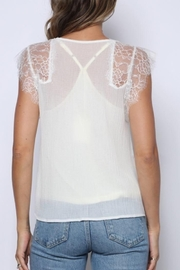 Solo Fashion New York Ivory Lace Tank Top Lining Top - Back cropped