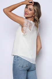 Solo Fashion New York Ivory Lace Tank Top Lining Top - Side cropped