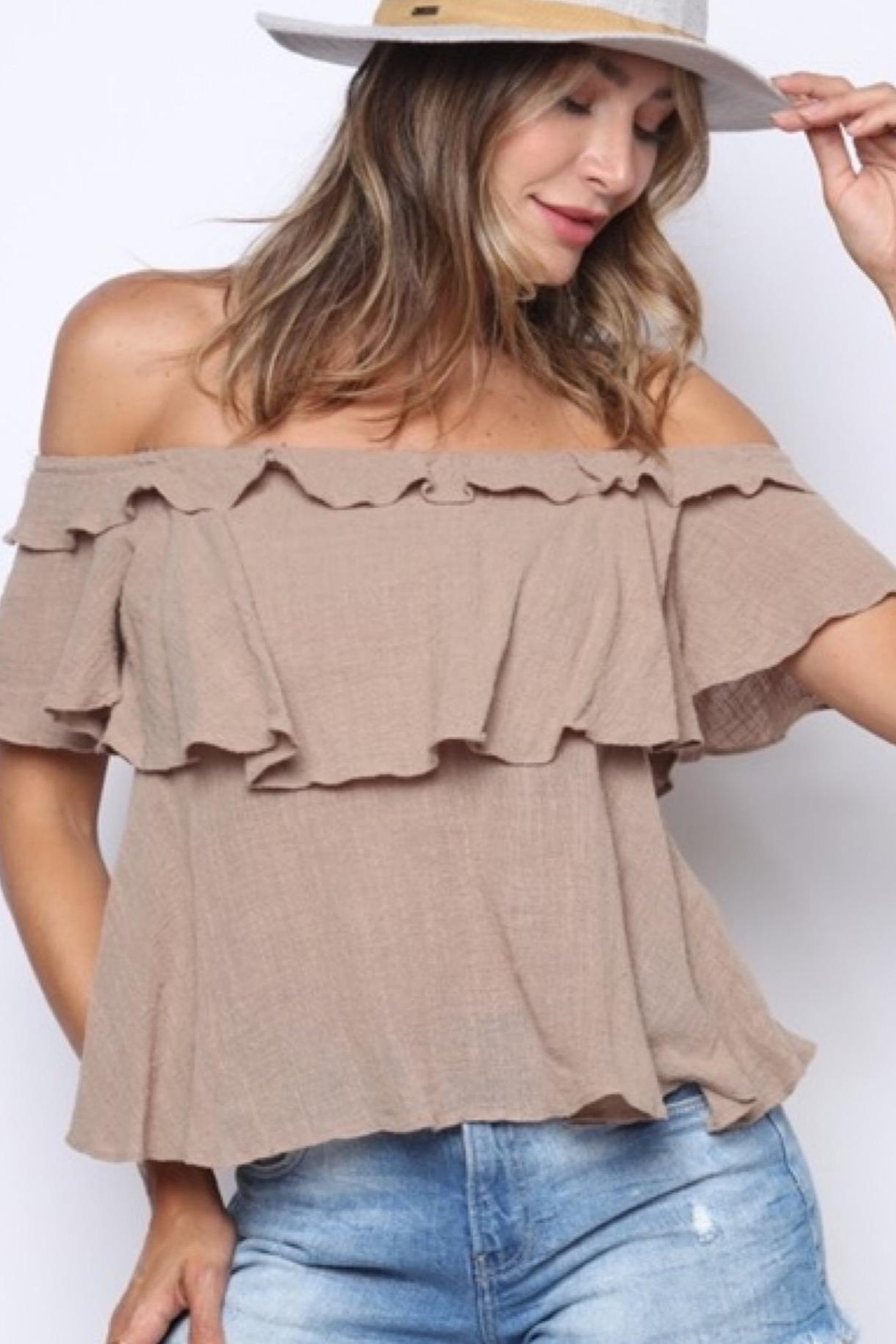Solo Fashion New York Off Shoulder Top - Main Image