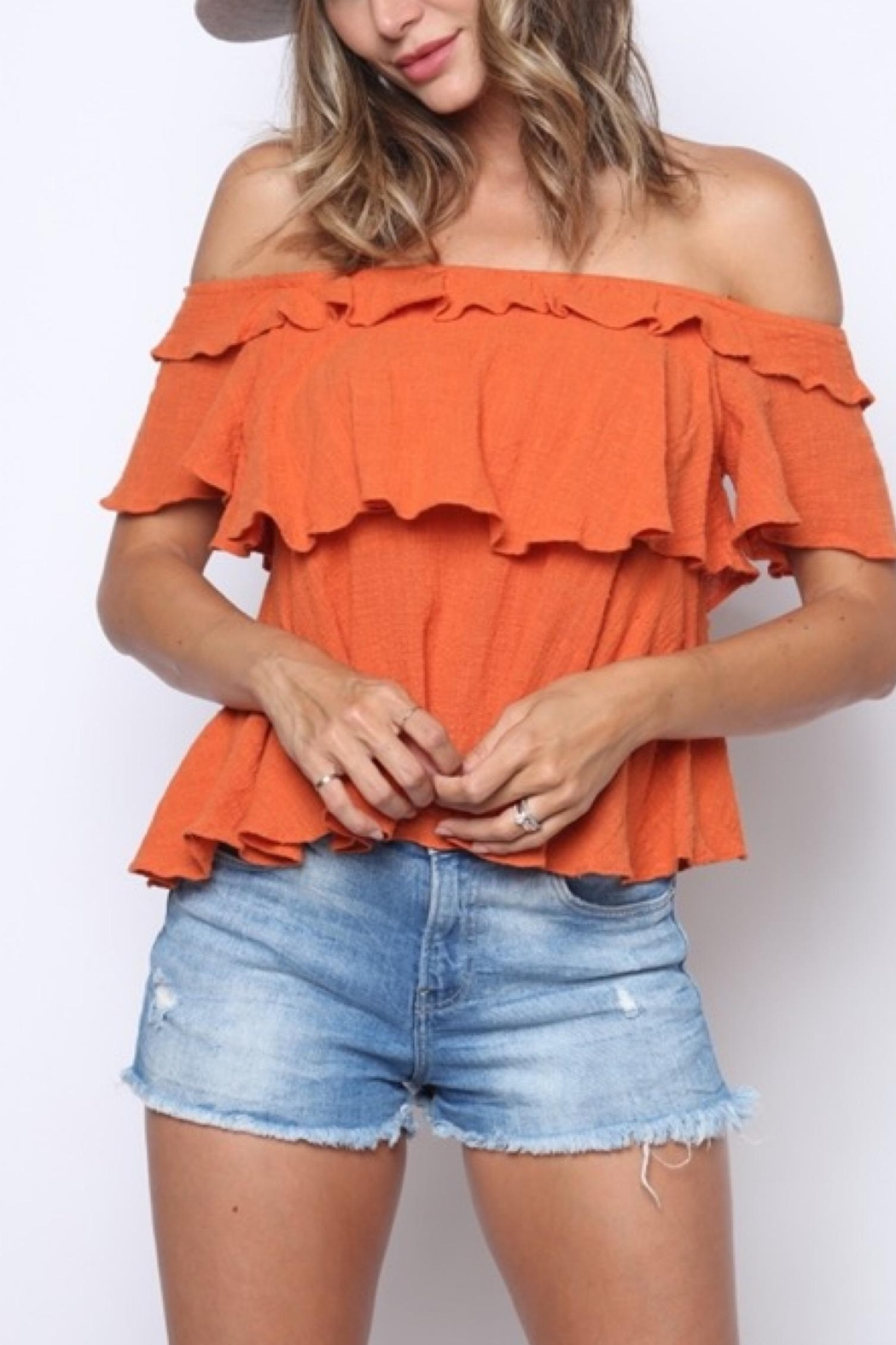 Solo Fashion New York Off Shoulder Top - Front Cropped Image