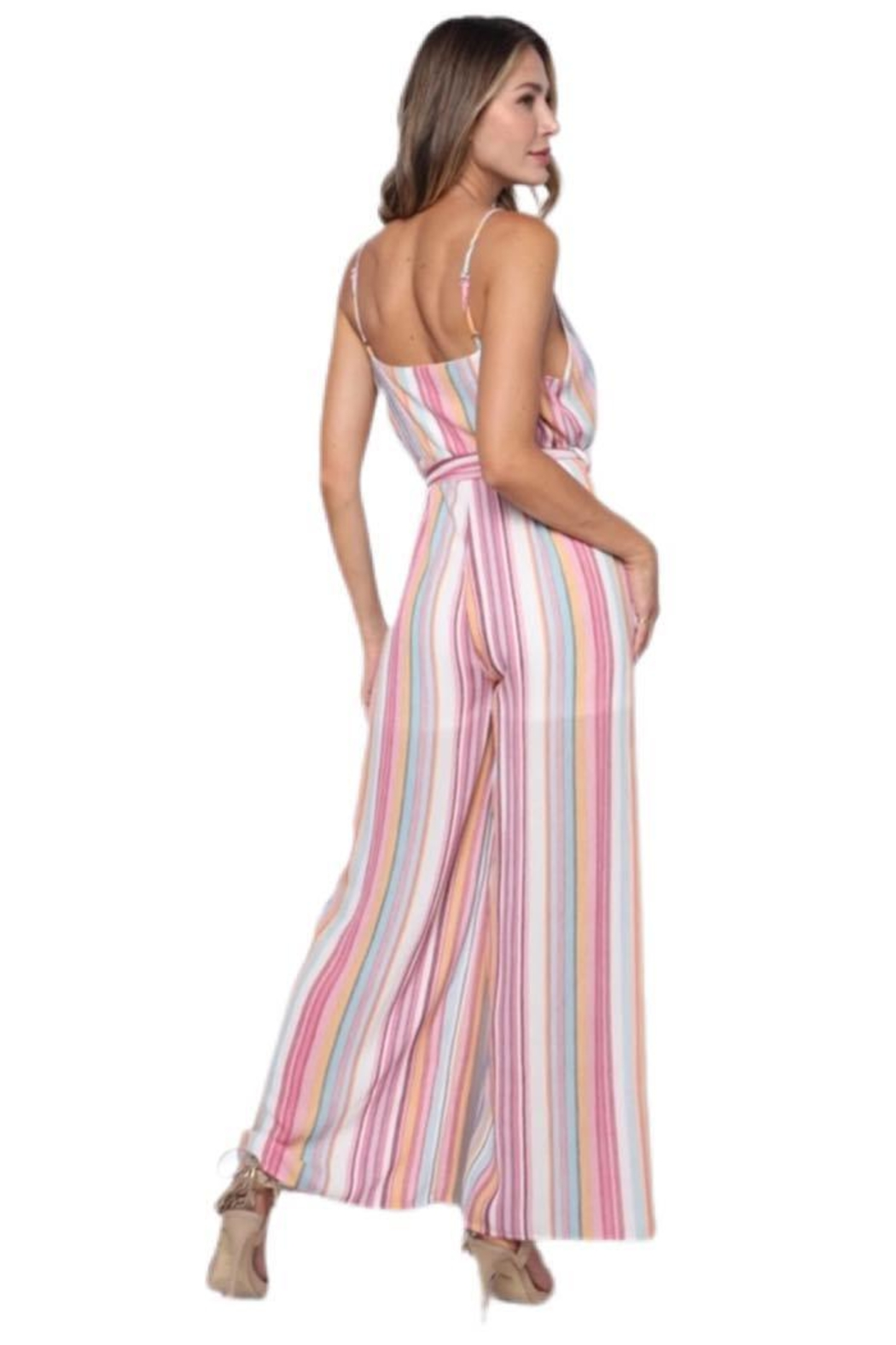 Solo Fashion New York Pink Jumpsuit - Side Cropped Image