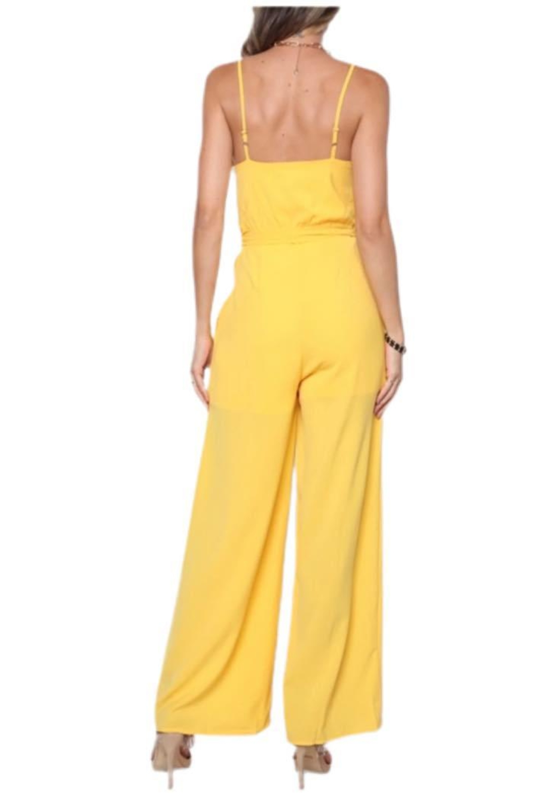 Solo Fashion New York Yellow Jumpsuit - Front Full Image