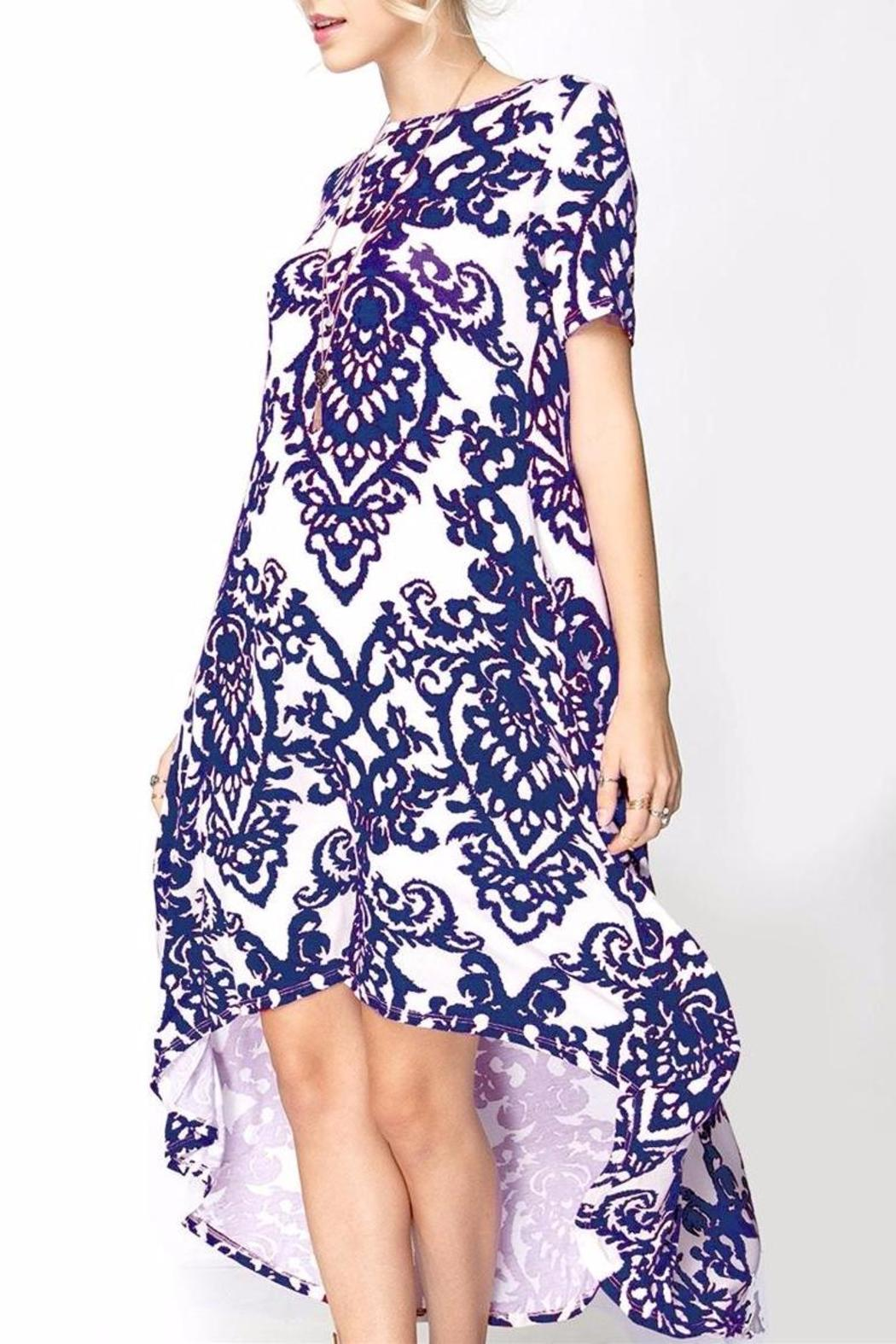 Solo La Fe  Wallpaper Highlow Dress - Front Cropped Image