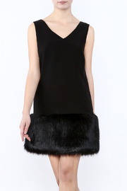 Soloiste Faux Fur Trim Dress - Product Mini Image