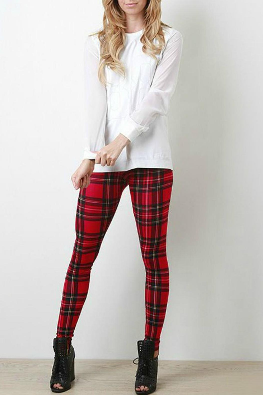 c31a99cf4df3c SoloLaFe Red Plaid Leggings from Washington by Boutique Bleu ...