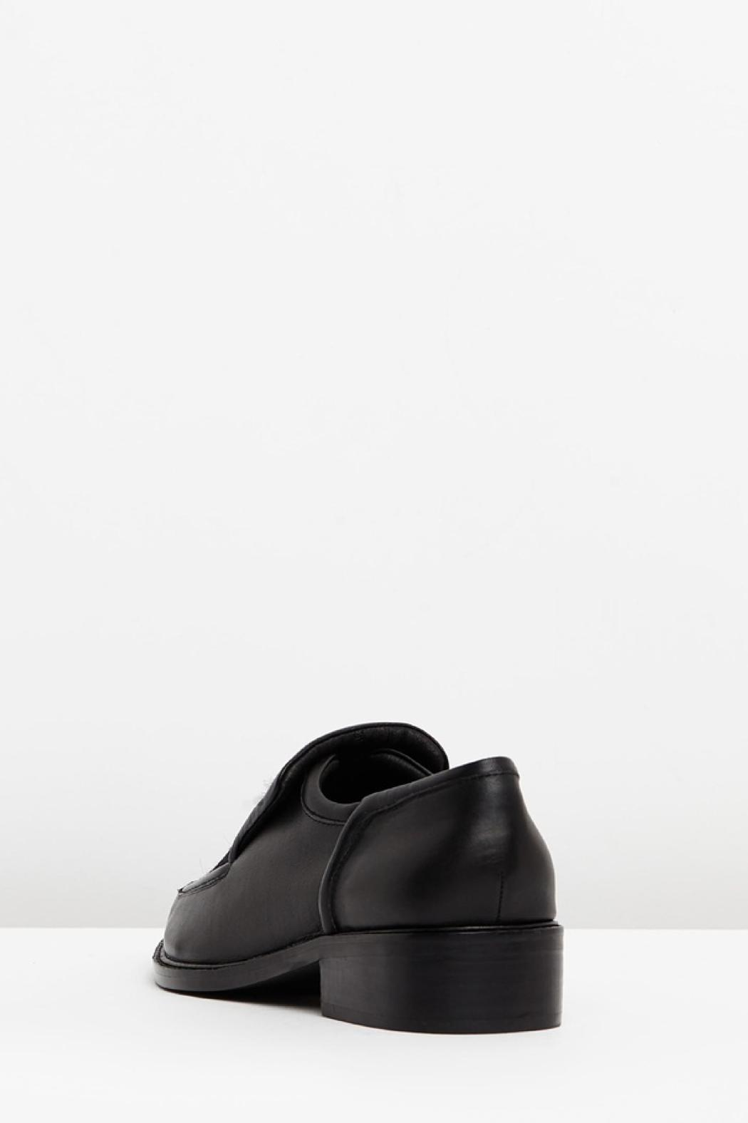 SOLSANA Pierced Leather Loafer - Front Full Image