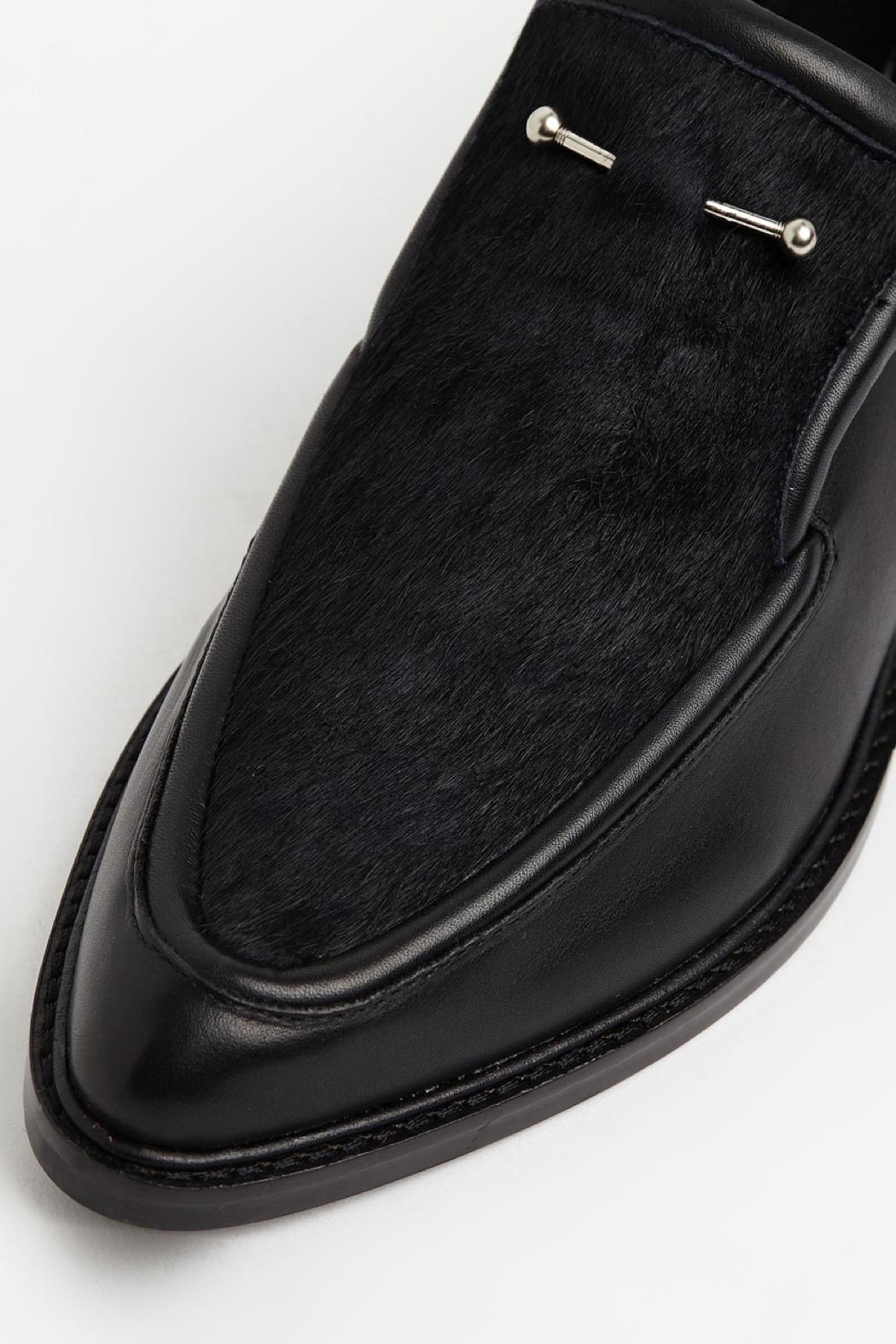 SOLSANA Pierced Leather Loafer - Side Cropped Image