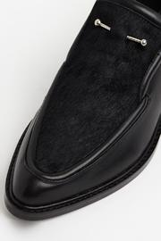 SOLSANA Pierced Leather Loafer - Side cropped