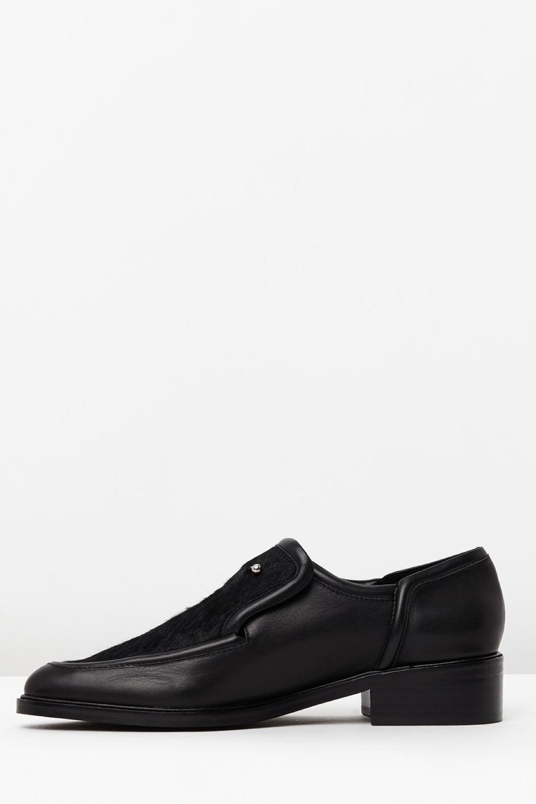 SOLSANA Pierced Leather Loafer - Main Image