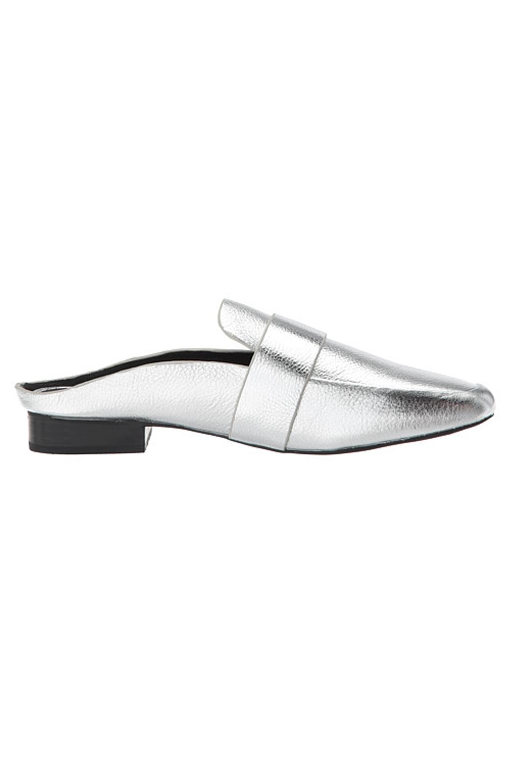 SOLSANA Renold Leather Mule Shoes - Side Cropped Image