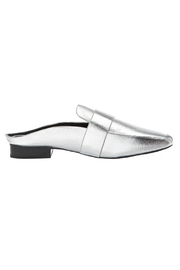 SOLSANA Renold Leather Mule Shoes - Side cropped