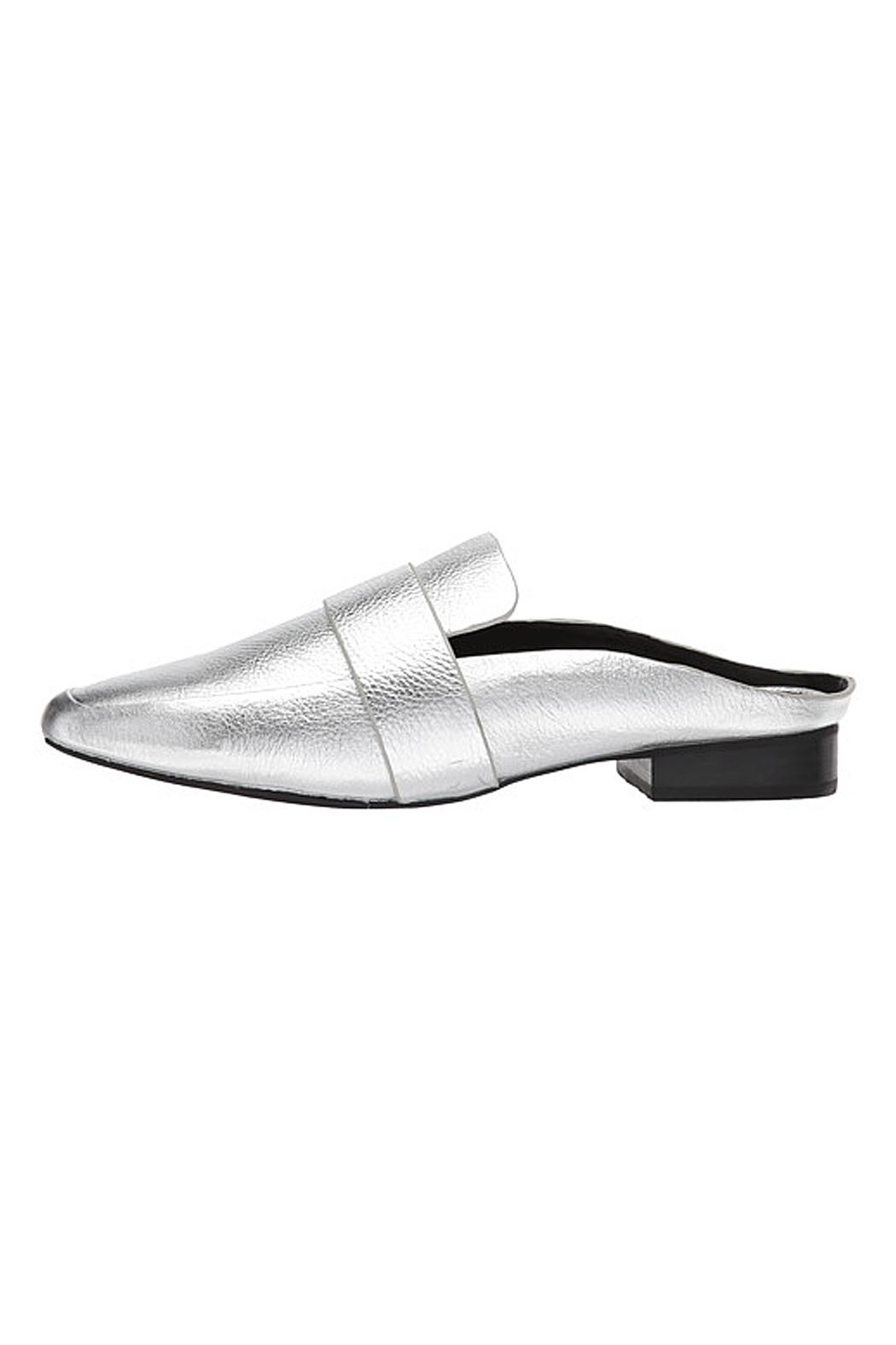 SOLSANA Renold Leather Mule Shoes - Main Image