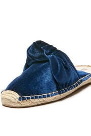 Soludos Knotted Velvet Mule - Front cropped