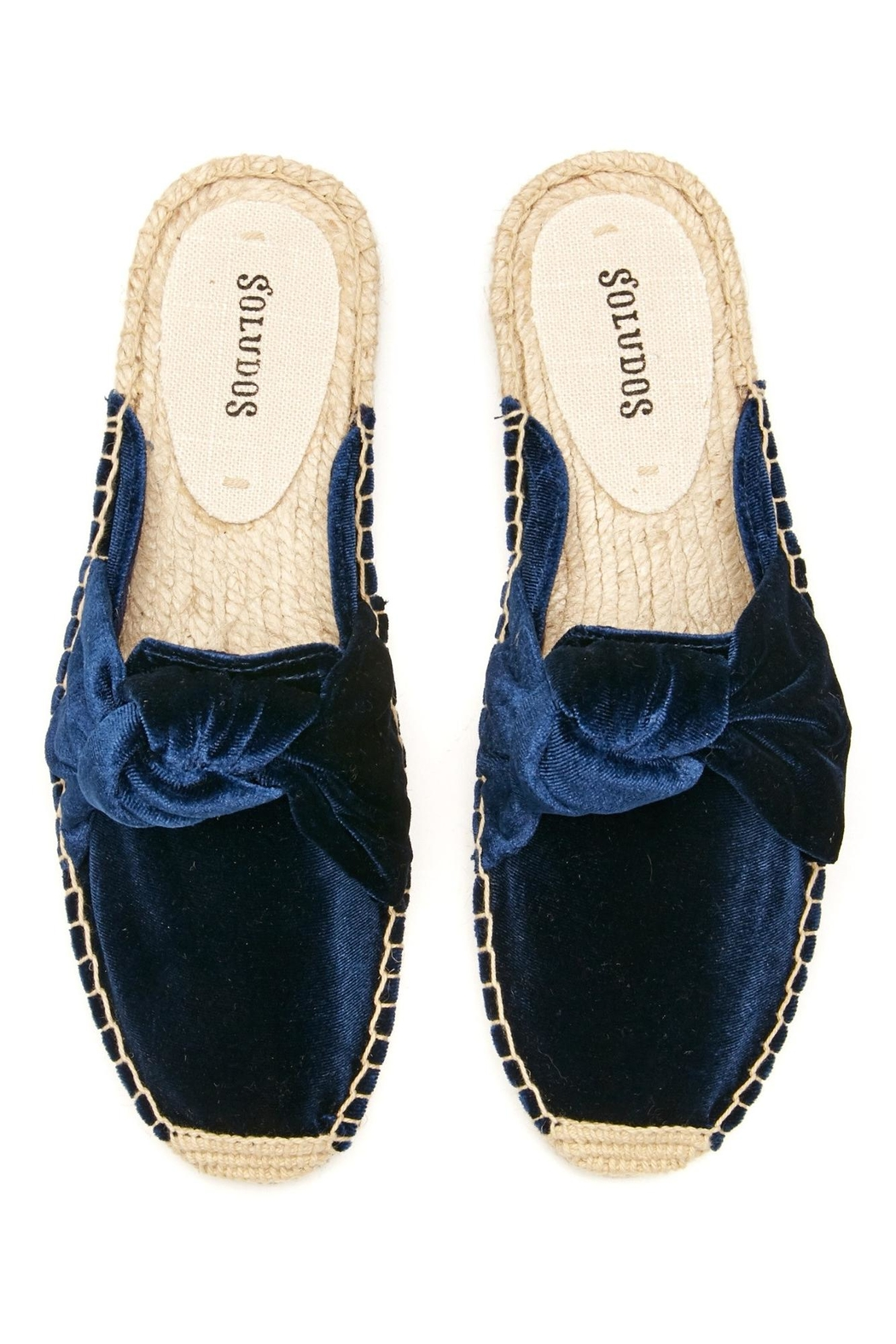 Soludos Knotted Velvet Mule - Front Full Image