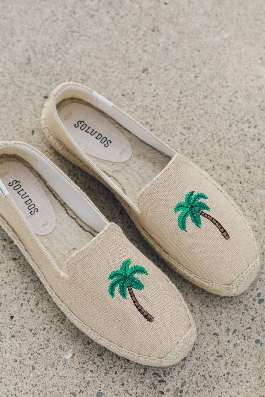 Soludos Palm Tree Platforms - Front Cropped Image