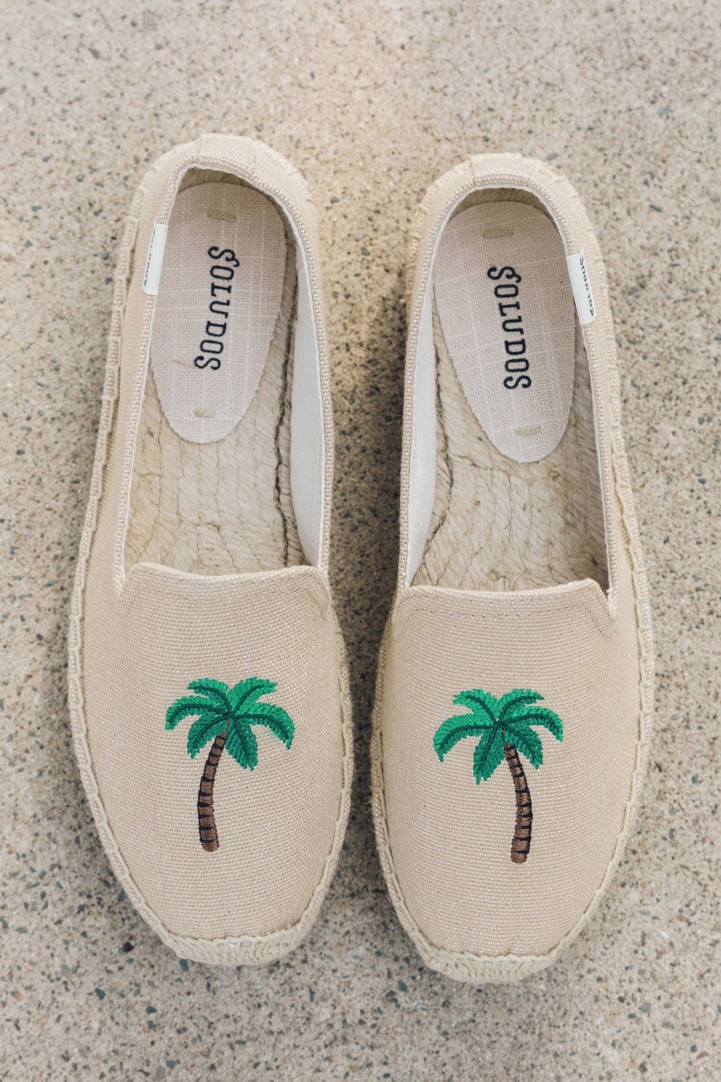Soludos Palm Tree Platforms - Front Full Image