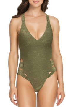 Shoptiques Product: Shimmery 1pc Plunge