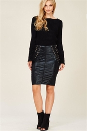 Solution Black Pencil Skirt - Front cropped