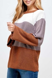 Solution Brown Colorblock Sweater - Product Mini Image