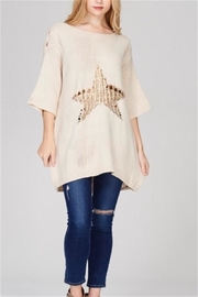 Solution Foiled Star Tunic - Front cropped