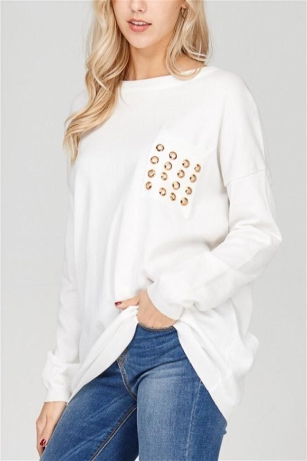 Solution Grommet Sweater Pullover - Main Image