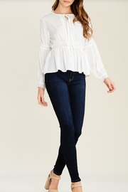 Solution Lace Trimmed Top - Product Mini Image