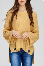 Solution Mustard Distressed Sweater - Product Mini Image