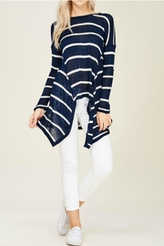 Solution Navy Stripe Top - Product Mini Image