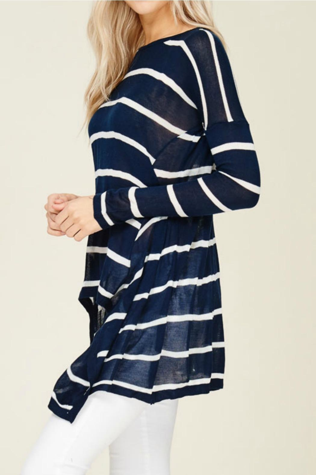 Solution Navy Stripe Top - Side Cropped Image
