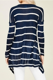 Solution Navy Stripe Top - Back cropped