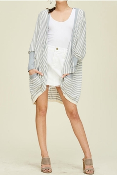 Solution Oversize Stripe Cardigan - Product List Image