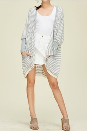 Solution Oversize Stripe Cardigan - Product Mini Image