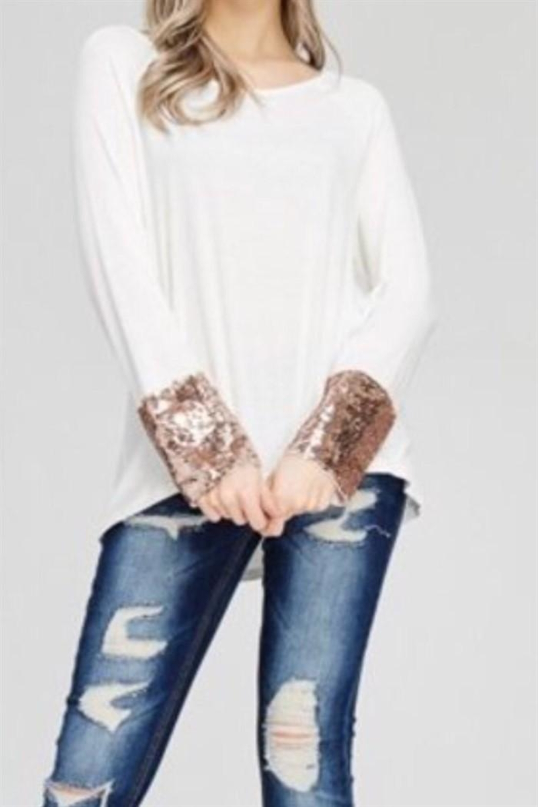 Solution Sequin Cuff Top - Main Image