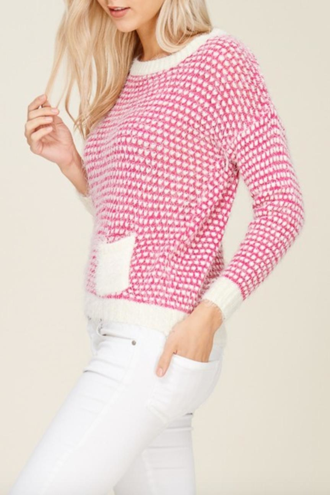 Solution Soft Knit Heart-Sweater - Front Full Image