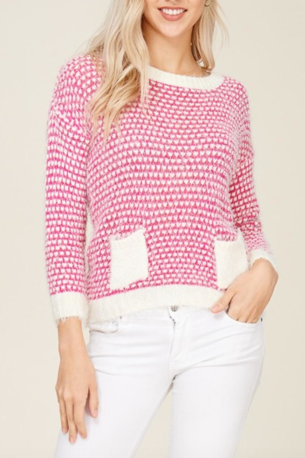 Solution Soft Knit Heart-Sweater - Main Image