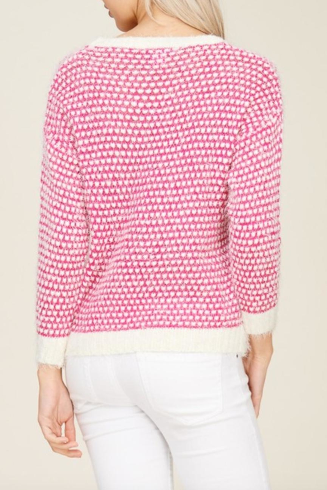 Solution Soft Knit Heart-Sweater - Side Cropped Image
