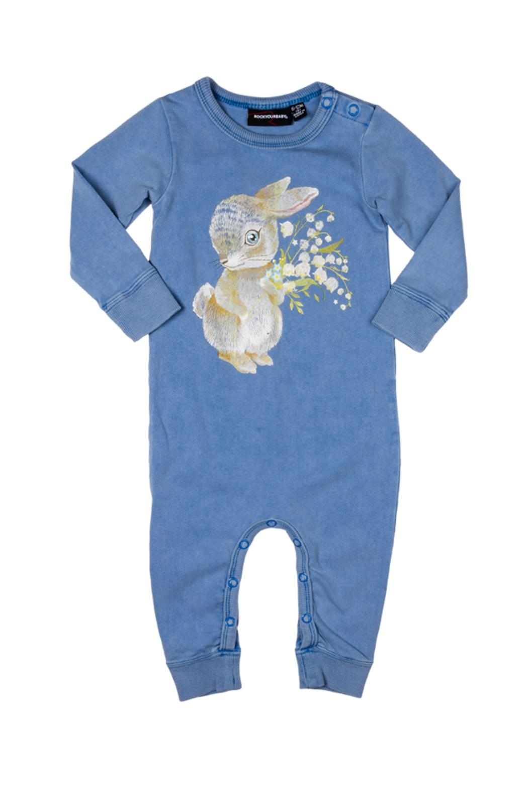 Rock Your Baby Some Bunny Playsuit - Front Full Image