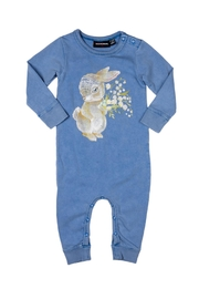 Rock Your Baby Some Bunny Playsuit - Front full body