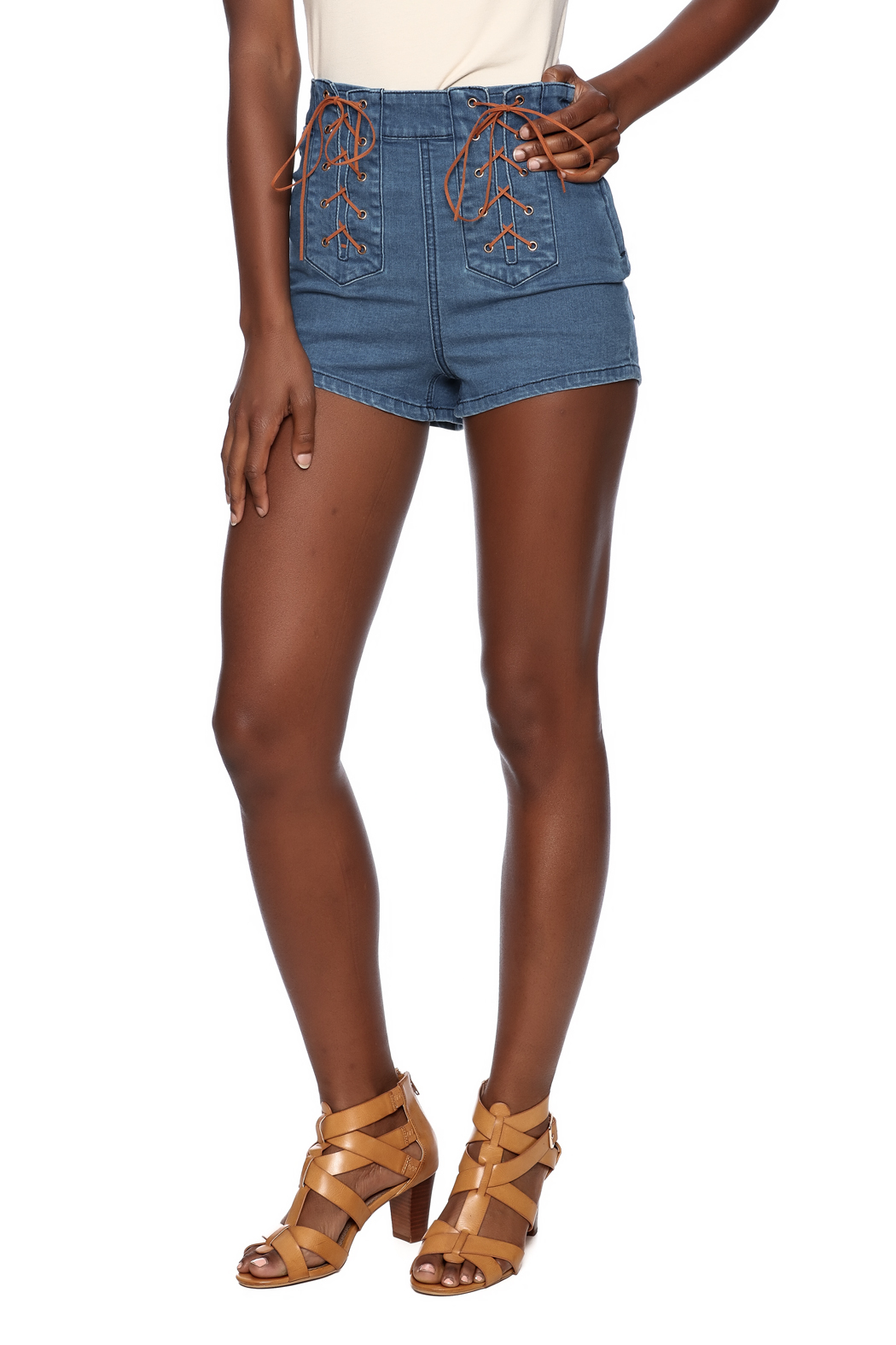 10470802796 Somedays Lovin Jerry Lace Up Shorts from New York by Luna — Shoptiques